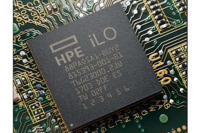Dans ses serveurs, HPE embarque des fonctionnalités de sécurité dans le silicium des puces associées à son microcode iLO 5.0 créant une empreinte numérique de protection. (crédit : D.R.)