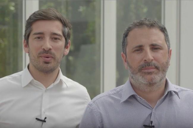 Vincent Thery (à gauche) et Aymeric Garnier, co-fondateurs de Lili Smart, start-up française distinguée par le concours international InnovatorsRace50 lancé à l'initiative de Capgemini. (crédit : D.R.)