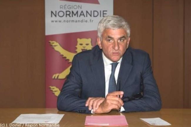 Le Président de la Région, Hervé Morin, a annoncé vendredi dernier un plan numérique pour la Normandie. (crédit : J. Doinel / Région Normandie)
