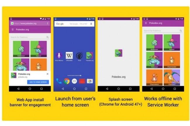 Les progressive web apps s'appuient sur les service workers, des scripts que les navigateurs web exécutent en tâche de fond, séparément de la page web et qui ne nécessitent pas d'interactions avec l'utilisateur.