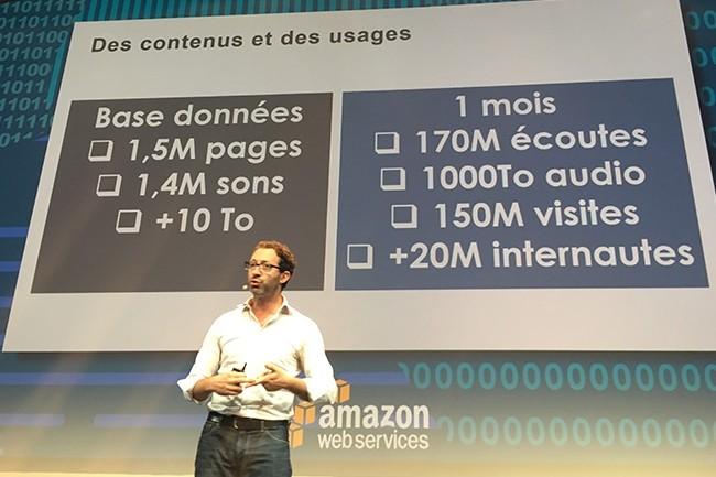 Comme le rappelle Laurent Frish, le directeur numérique de Radio France, ce sont plus de 20 millions d'internautes qui se connectent tous les mois aux sites du service public, hébergés sur AWS. (crédit : OB)