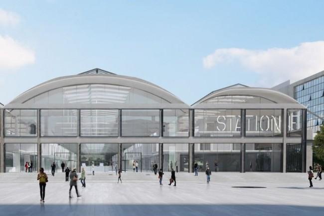 Dans le 13ème arrondissement de Paris, la Halle Freyssinet va ouvrir ses portes sur un campus de 34 000 m2 qui recevra plus de 3 000 start-upers. (crédit : JM Wilmotte).