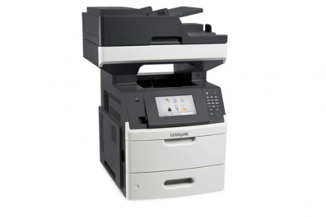 Le MFP laser MX718de de Lexmark est capable d'imprimer jusqu'à 66 pages par minutes.