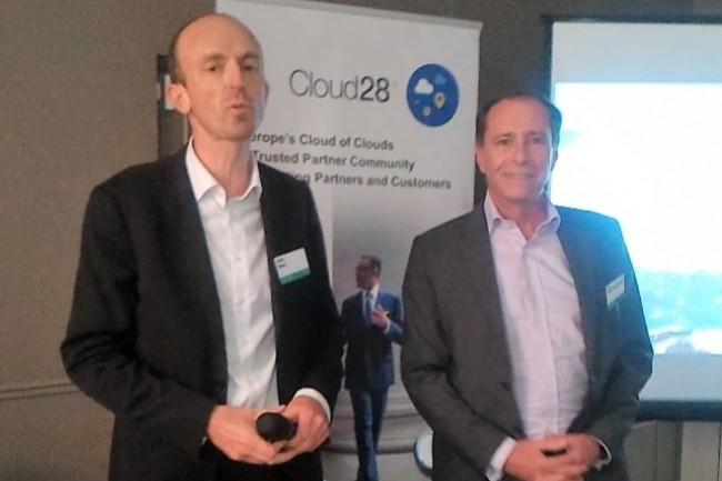 Alain Melon, directeur channel d'HPE et Xavier Poisson, vice-président indirect services numériques d'HPE. (crédit : D.F.)