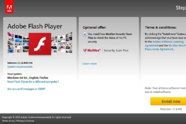 Flash Player sera définitivement banni des principaux navigateurs en 2020. (Crédit D.R.)