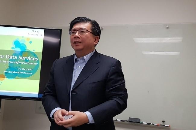 CEO et cofondateur de ProphetStor, Eric Chen veut rendre le datacenter plus efficace grâce aux outils analytiques prédictifs. (Crédit S.L.)