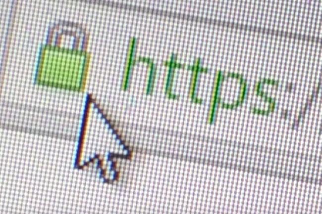 Ci-dessus, l'icône du cadenas SSL qui indique que le site web est sécurisé. (Crédit : Peter Sayer)