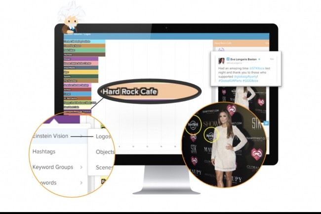 Avec Einstein Vision for Social Studio, les équipes marketing vont pouvoir repérer sur les réseaux sociaux les images où apparaissent leurs produits.