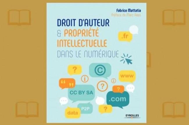 « Droit d'auteur et propriété intellectuelle dans le numérique », de Fabrice Mattatia, vient de paraître aux Editions Eyrolles. (crédit : D.R.)