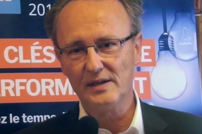Gérard de Carville, directeur marketing de Kyocera le 7 juillet 2017 à Paris. (crédit : LMI)