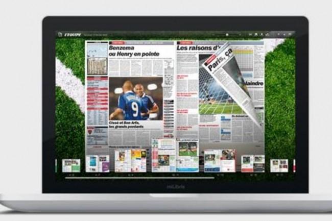 Parmi les titres numérisés par Milibris, on trouve L'Equipe, le Figaro et Aujourd'hui en France.