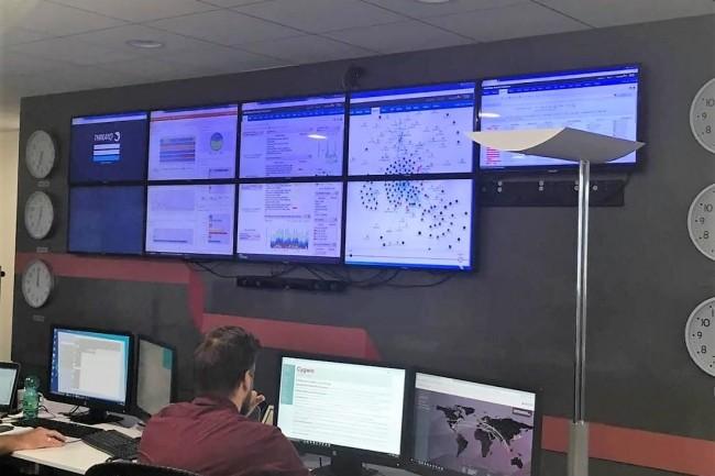 Le centre de commande du SOC de Sopra Steria à Toulouse est opérationnel en mode 24/7. (crédit : Sopra Steria)