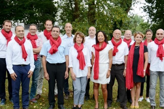 Le nouveau bureau de Digital Aquitaine, présidé par Agnès Passault (au centre), veut être davantage représentatif de la filière IT. Crédit. D.R.