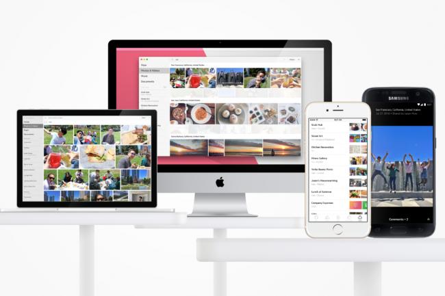 La solution Upthere permet d'accéder aux photos, vidéos, musiques et documents hébergés dans le cloud depuis n'importe quel terminal. (crédit photo : DR)