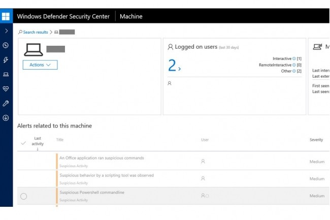 Les utilisateurs de Windows Defender ATP sont alertés et protégés contre la faille zero-day que Microsoft corrige dans son Patch Tuesday de septembre 2017. (crédit : D.R.)