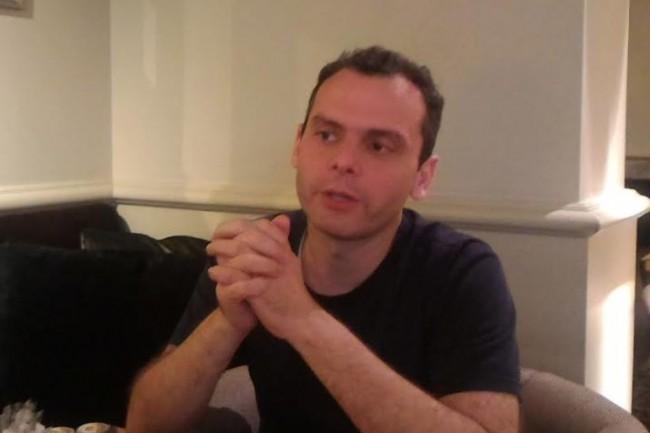 Olivier Pomel, co-fondateur de Datadog, à l'occasion de sa venue à Paris jeudi 14 septembre. (crédit : D.F.)