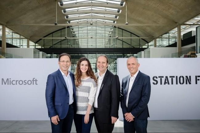 Microsoft a rejoint le rang des partenaires de Station F pour stimuler le développement de l'intelligence artificielle en France. Crédit. D.R.