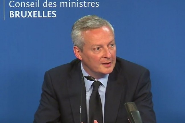 Bruno Le Maire, ministre de l'Economie et des Finances, bataille pour faire �clore un projet de taxation des GAFA au niveau europ�en. (cr�dit : D.R.)
