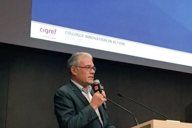 Bernard Duverneuil, président du Cigref, a ouvert le colloque du 25 septembre 2017 consacré à l'open innovation. (crédit : Cigref)