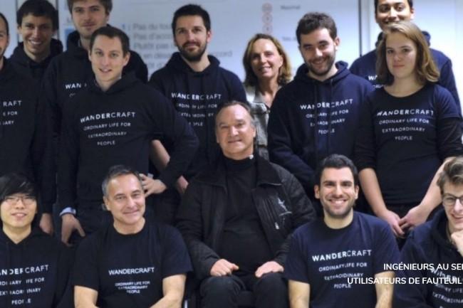 Fondée par trois ingénieurs de l'X, Nicolas Simon, Alexandre Boulanger et Matthieu Masselin, Wandercraft réunit une équipe d'ingénieurs spécialisés en robotique. (crédit : D.R.)