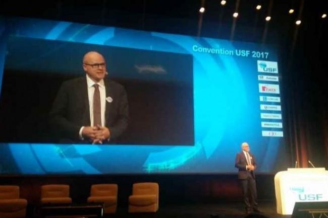 Claude Molly-Mitton, Président de l'USF, a ouvert la Convention 2017 en annonçant qu'elle serait sa dernière en tant que président. (Crédit : BL)