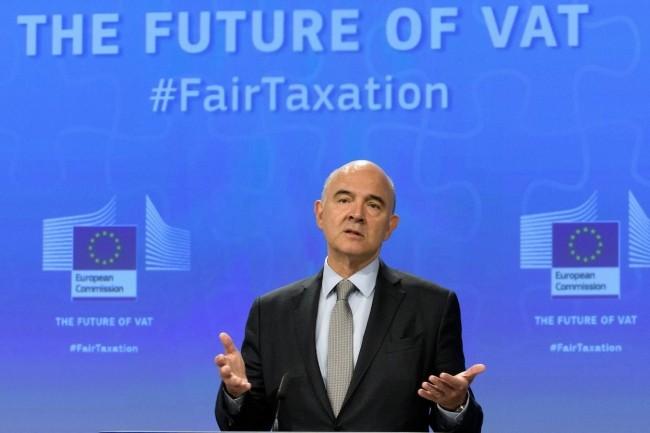 Ce 4 octobre à Bruxelles, Pierre Moscovici, Commissaire européen aux Affaires économiques et financières, à la Fiscalité et à l'Union douanière, a présenté un texte pour réformer la taxation dans l'Union européenne. (crédit : UE)