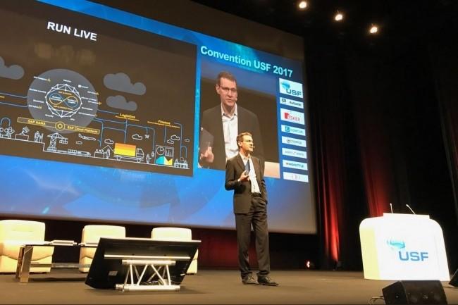 Marc Genevois, Directeur général de SAP France, est intervenu en début de seconde matinée de la Convention USF 2017. (Crédit SAP France)
