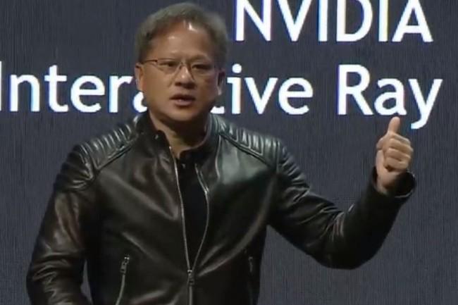 Sur la conférence GTC Europe 2017 à Munich, Jensen Huang, fondateur et président de Nvidia a présenté le projet Pegasus pour des taxis entièrement autonomes. (crédit : D.R.)