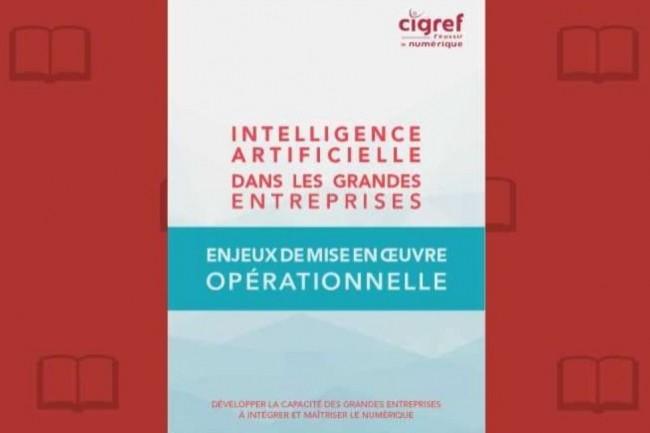 « Intelligence Artificielle dans les Grandes Entreprises » vient d'être publié par le Cigref. (crédit : D.R.)