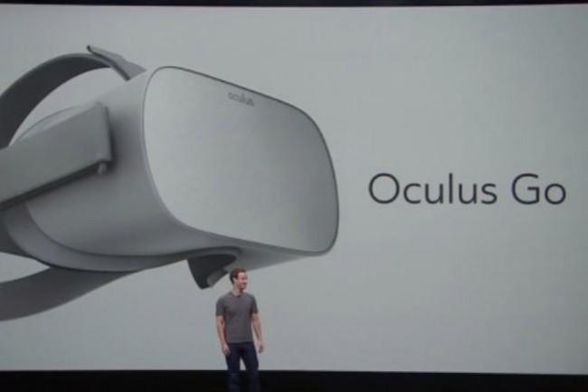Mark Zuckerberg a présu de commercialiser l'Oculus Go début 2018. CRédit. Oculus Connect. (crédit : D.R.)