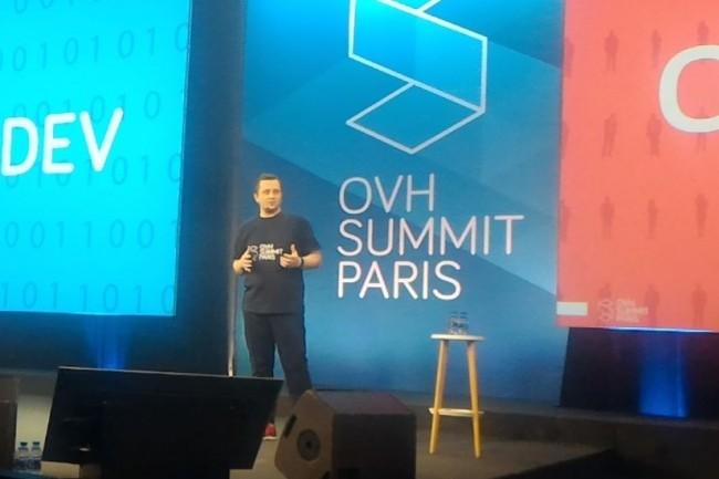 Octave Klaba, CEO et fondateur d'OVH espère bien voir sa société s'approcher du milliard d'euros de chiffre d'affaires à horizon 2020. (crédit : D.F.)
