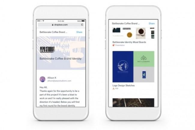 DropboxShowcase a été conçu pour aider les travailleurs indépendants et les petites équipes à afficher et à partager des documents plus facilement.