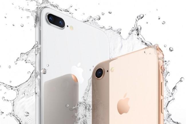 L'iPhone 8 et 8 Plus ont été annoncés en même temps que l'iPhone X le 12 septembre dernier par Apple. (crédit : Apple)