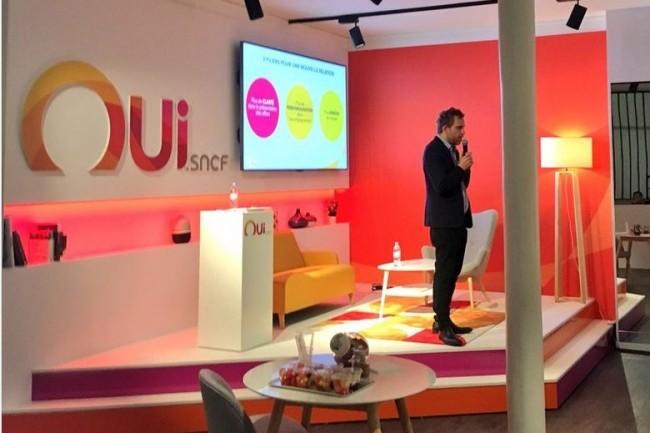 Benoit Bouffart, directeur Produits et Innovation de Voyages-sncf.com, a présenté ce 24 octobre 2017 l'avenir du voyagiste. (crédit : D.R.)