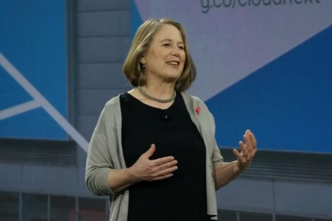 Diane Greene, CEO de Google Cloud, sur Cloud Next en mars 2017. (Crédit : Blair Hanley Frank/IDG)
