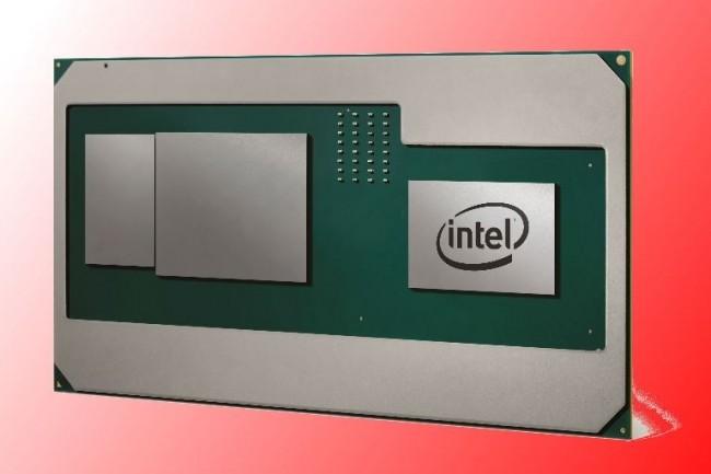 Intel a créé un module à trois matrices articulé autour de sa puce Core, le cœur Radeon et la mémoire à haute bande passante HBM2 de prochaine génération. (crédit : Intel)