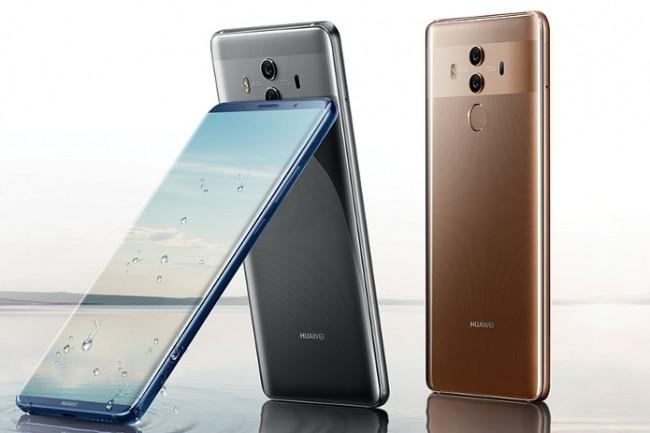 Le Mate 10 Pro de Huawei a été également conçu pour se frotter au Galaxy Note 8 de Samsung et à l'iPhone 8 Plus d'Apple. (Crédit D.R.)