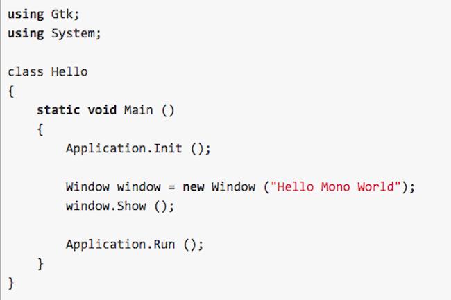 L'exécution en mode mixte permet de faire tourner des applications scriptables sur des périphériques utilisant les langages .Net.