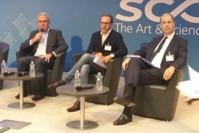 De gauche à droite : Bernard Duverneuil (Cigref), Bertrand Diard (Tech'In France) et Pascal Antonini (AFAI) ont ouvert la conférence du 14 novembre 2017. (crédit : B.L.)