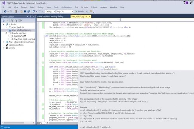 Visual Studioaccueille des capacités de traitements IA. (Crédit Microsoft)
