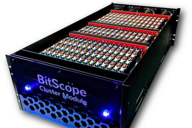 Les 3 000 coeurs ARM de ce cluster de puissance proviennent de 750 cartes Raspberry Pi 3. (Crédit BitScope)