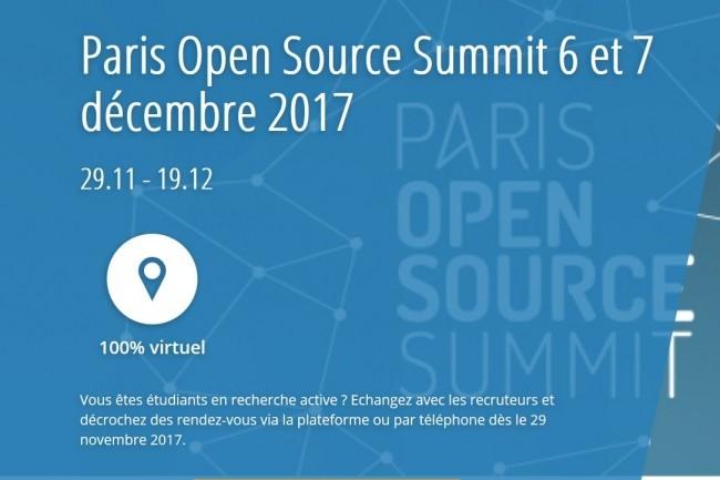Paris Open Source Summit 2017 s'engage à accompagner les entreprises dans leur recherche de profils open source. Crédit : D.R.
