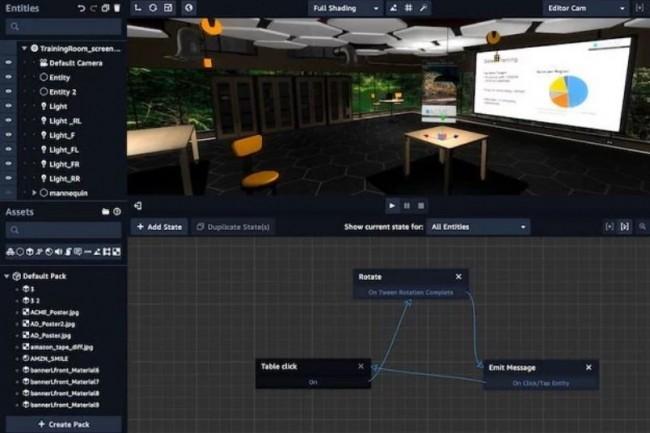 Amazon explique que Sumerian ne nécessite pas d'expertise en programmation et 3D pour créer des apps VR et AR. (crédit : Amazon)