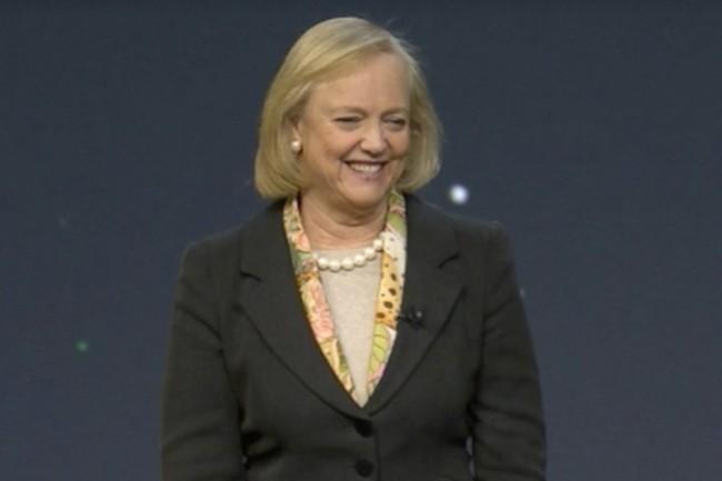 Le futur de l'IT décrit par Meg Whitman, CEO de HPE jusqu'au 1er février 2018 : Un monde hybride alimenté par apps et données, depuis l'extrémité du réseau jusqu'au datacenter vers les clouds publics. (Crédit : D.R.)