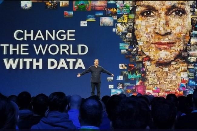 Comme l'an dernier à Berlin, NetApp a mis l'accent sur datafabric et sa stratégie multicloud. (Crédit NetApp)