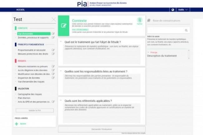 Le logiciel PIA permet de suivre les différentes étapes de façon accompagnée.