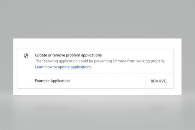 La 66e version de Chrome préviendra à compter d'avril 2018 les utilisateurs des apps tierces injectant du code et donc susceptibles de bloquer leur navigateur. (crédit : Google)