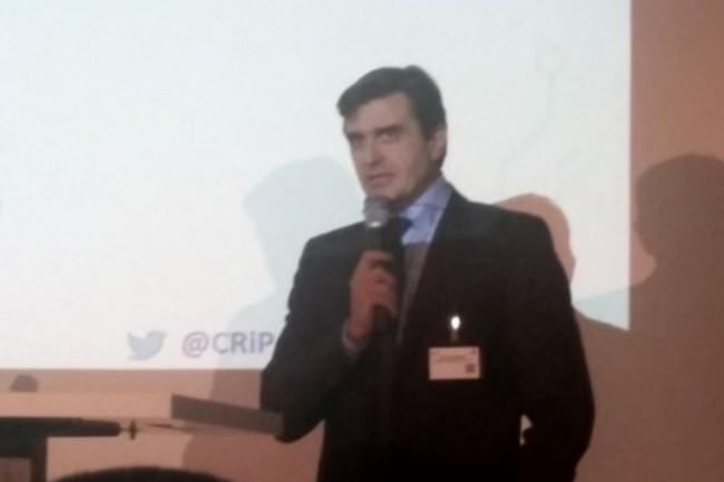 Philippe Sersot, président du CRIP, a introduit la remise des Trophées 2017 du club des responsables d'infrastructure et de production. (crédit : B.L.)