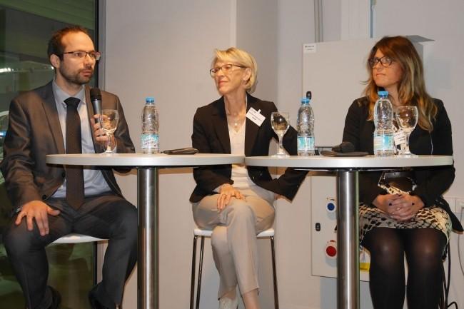 Le plateau d'intervenants de l'IT Tour Lille était éclectique avec notamment Maxime Lecoeur, RSSI de Verisure et membre du Cesin, Martine Ricouart Maillet, vice-présidente de l'AFCDP, co-fondatrice de BRM Avocats, et Géraldine Godon, correspondant Informatique et Libertés, Boulanger & membre de l'AFCDP. (crédit : LMI)