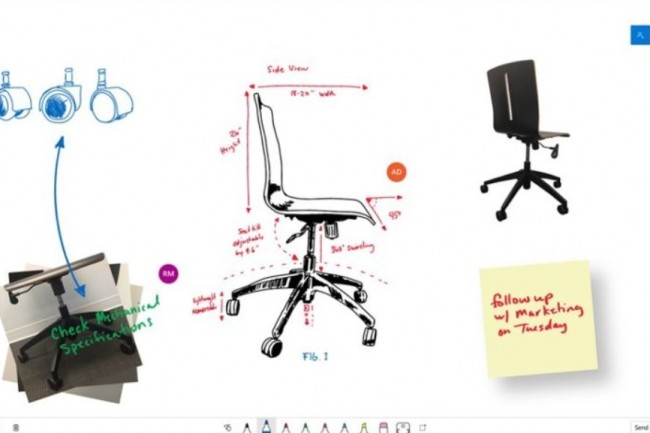 Microsoft Whiteboard est disponible pour les utilisateurs des terminaux Windows 10. (cr�dit ; Microsoft)